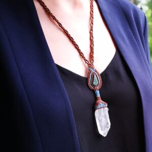 Necklace with Rock Crystal