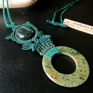 Necklace with Jade and Serpentine